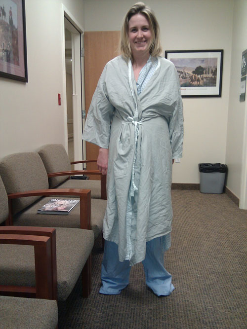 Here I stand in a billowing gown of Huntsman oversized goodness.