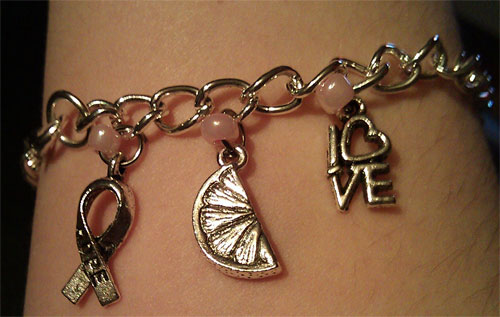 The Darn Good Lemonade charm bracelet.