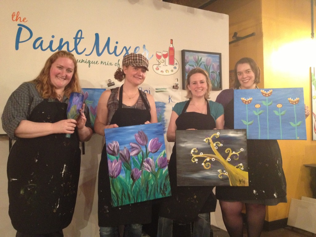 Painting with my lovely friends