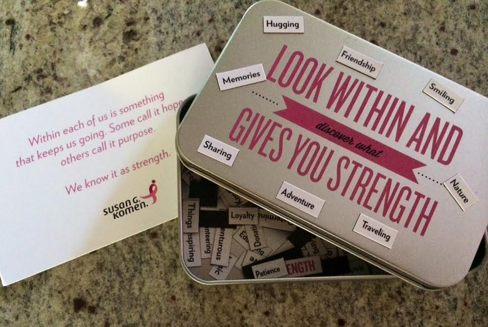 My friends at Susan G. Komen sent me this recently. :)