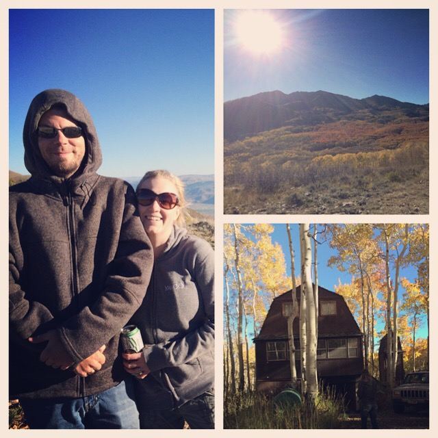 We went camping at our friends cabin with the RV this weekend it get away.
