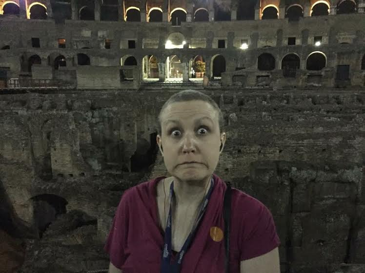 """My """"lions are going to eat me"""" Colloseum face"""