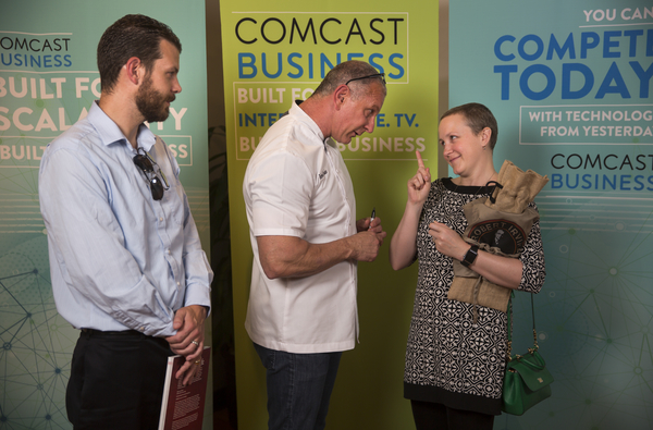 That one time I was hanging out with Chef Irvine at a Comcast Business event. He was telling me to beat cancer.