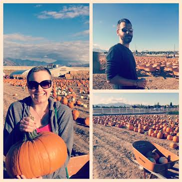 Mike's sister took us to pick pumpkins (number 6 on the list)