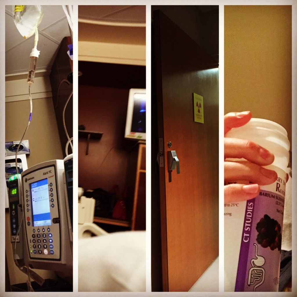 Hospital rooms, infusions, scans. This is stage IV.